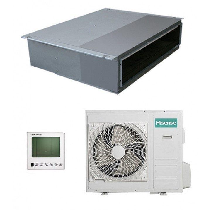 Кондиционер канальная сплит-система Hisense AUD-24HX4SLH / AUW-24H4SZ1 (зимний комплект)