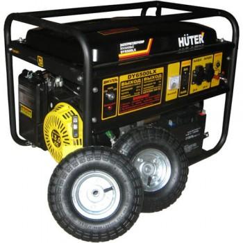 Генератор газобензиновый Huter DY6500LX с колесами и аккумулятором